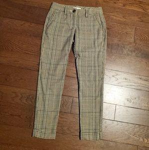 Cabi plaid cuffed ankle pants